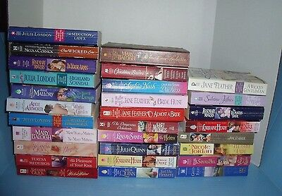 Lot Of 29 Historical Romance Jane Feather Mary Balogh Julia London Others