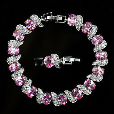 Gorgeous New 18K White Gold Plated Cubic Zirconia Tennis Bracelet - You Choose 1