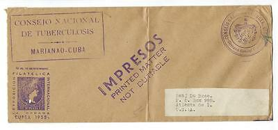 ~1955 Caribbean To USA Stampless Cover - (GG-58)