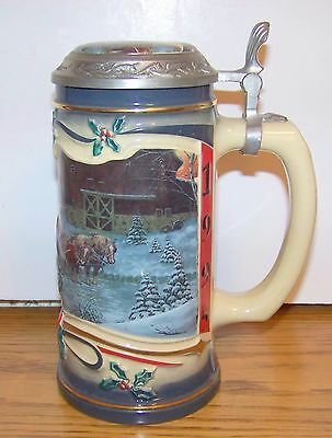 "Harley-Davidson Limited Edition German Stein ""Late Arrival"" 1995 99498-96Z"