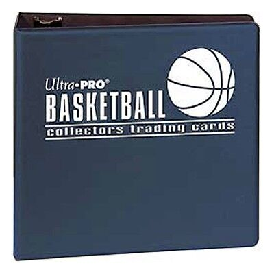 """3"""" Ultra Pro Basketball Navy 3-Ring Binder + 50 Pages of Top Loading 9-pocket"""