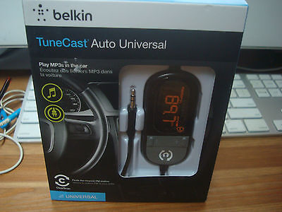 Belkin TuneCast Auto Universal FM transmitter with USB charger F8Z439TT