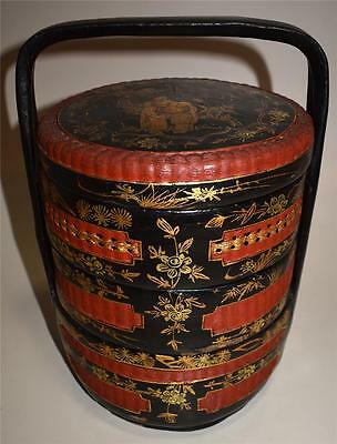Vintage Chinese Asian Wedding Basket ~ Excellent!