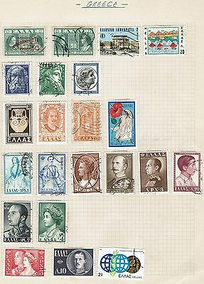 Greece Stamp better selection on old album page