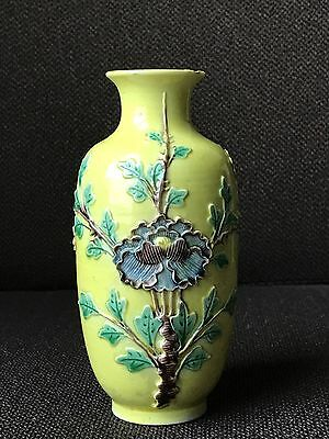 Antique Chinese Family Rose Porcelain Pottery Vase Hand Painted