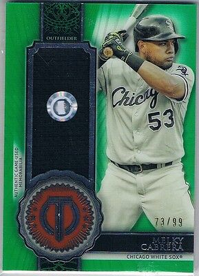 2017 Topps Tribute Stamp of Approval Relics Green #SOAMC Melky Cabrera #73/99