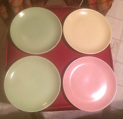 Monterey Dinnerware (4) Speckled Plates - Vintage Dishes Free Shipping
