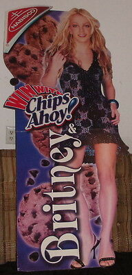 """Britney Spears (Nabisco Chips Ahoy!) Cardboard Standee Display (64"""" Tall)"""