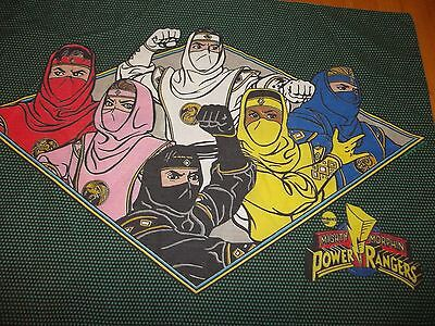 Vintage POWER RANGERS Cartoon Character reversible Pillow case {Fabric}