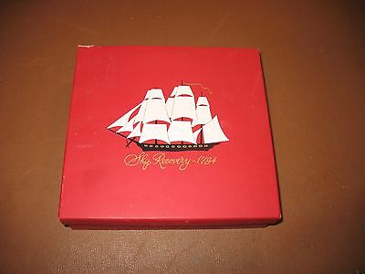 VINTAGE 1960's OLD SPICE SHIP RECOVERY 1794 TALCUM,LOTION,SHAVING CREAM SET
