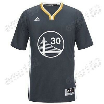 New Golden State Warriors Stephen Curry #30 Black Embroidery Basketball Jerseys