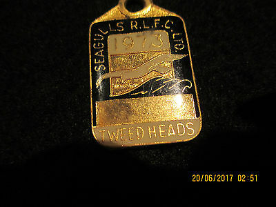 1973 Seagulls R.L.F.C Ltd  Tweed Heads Denham Neal & Treloar Member Badge