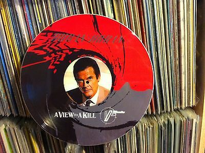 """DURAN DURAN A VIEW TO A KILL Rare 12"""" Picture Disc 007 Roger Moore James Bond LP"""