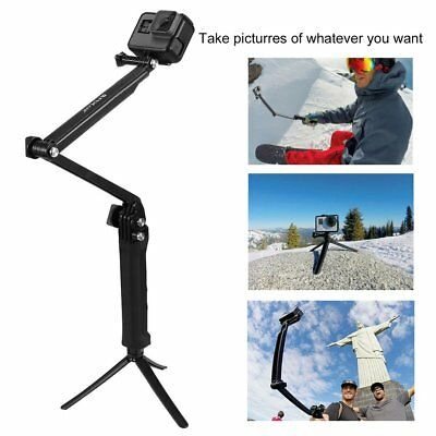 For Gopro Hero Accessories Puluz 3 Way Grip Arm Tripod Mount Selfie Stick YT