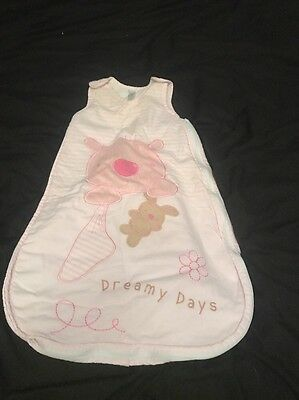 Baby Girls Sleep Bag 0-6  Months 2.5 Tog