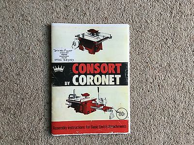 CORONET CONSORT (red) model woodworking machine instruction manual