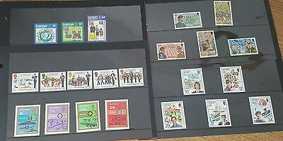 Jersey & Guernsey Scouts & Girl Guides 5 Sets Of Mint Stamps