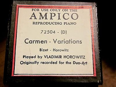 AMPICO 'Recut' Player Piano Roll #72504-D VARIATIONS On CARMEN - Bizet  Horowitz