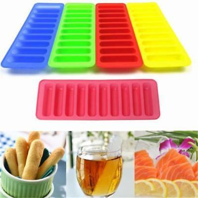 Safety Square Mold Ice Tray Silicone Strip Cylinder Cube Stick Bottle New B