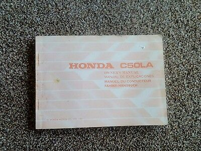 Honda C50 LA owners manual