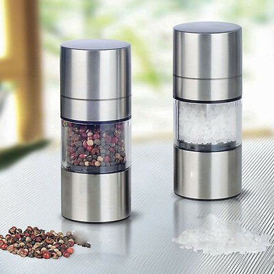Manual Stainless Steel Pepper Mill Salt Grinder Muller Kitchen Tool UK