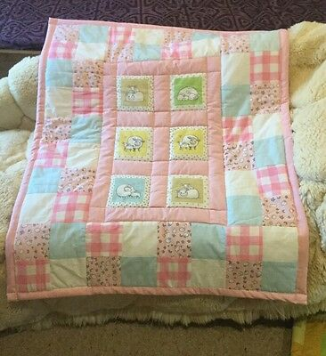 New Handmade Play mat/cotbed Quilt