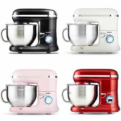 VonShef Electric Food Stand Mixer – Low Noise & 5.5L Mixing Bowl Splash Guard