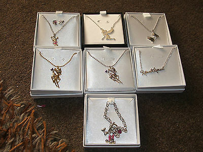 Disney Costume Jewellery - Minnie Mouse Bambi Tinkerbell New Necklace Bracelet