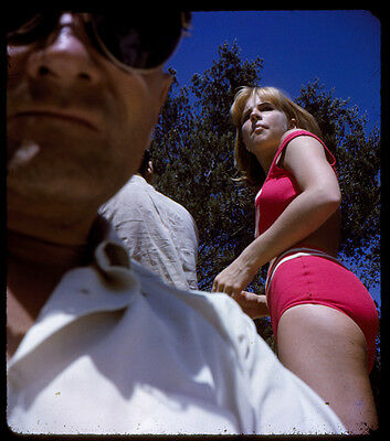 1960s Risque 800 STEREO COLOR SLIDES San Francisco HIPPIE GIRLS Bikinis Calif