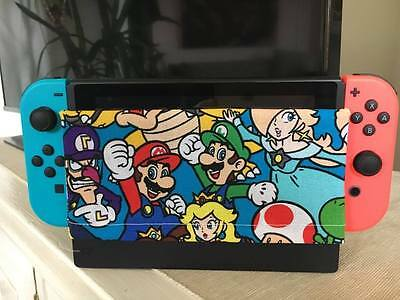 Custom Nintendo Switch Dock Cover/Dock Sock - Screen Protector Mario Characters