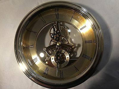 130 Mm / 5 Inch Clock Insert. .. Gold Colour