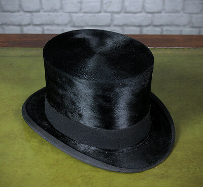 Antique Large (Size 7¼) Top Hat by Christies of London c.1910.