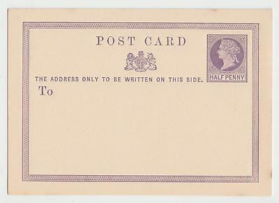 GB 1870 1/2d POSTCARD FIRST ISSUE - UNUSED