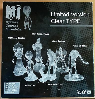 SIX CRYPTID ALIEN CLEAR TYPE FIGURES SET /Gray, Flatwoods Monster, Pascagoula