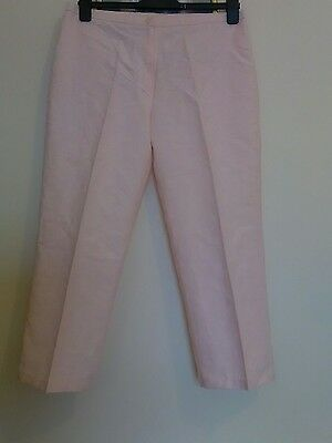 ladies size 42 pink cropped summer trousers