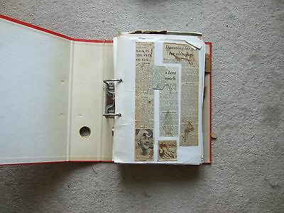 thick batch of ring binder scrapbook pages swimming mid 1970s