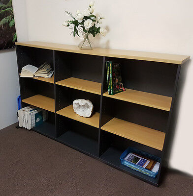 Versatile, practical office home office bookshelf long large 9 cubby shelf