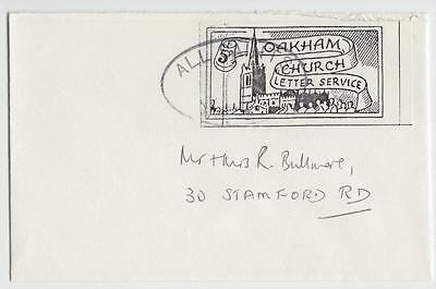 GB 1980's OAKHAM CHURCH SCOUT CHRISTMAS POST COVER, 5p LABEL