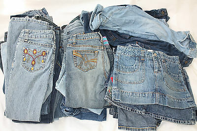 Girls Pre Worn Jeans Job Lot Age 8 Years £1.50 each