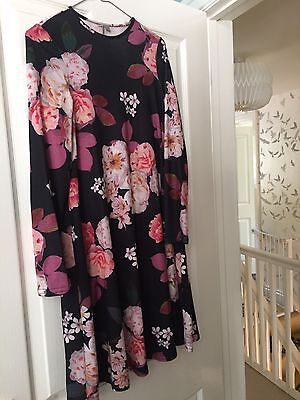 Maternity Swing Dress Size 8 Floral