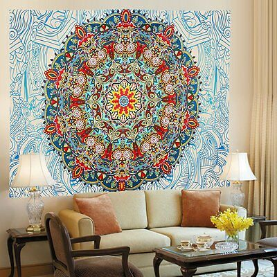 Indian Mandala Tapestry Hippie Wall Hanging Ethnic Bohemian Bedspread Dorm Decor