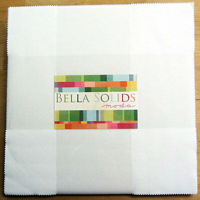 Patchwork/quilting Fabric Layer Cake Moda - Bella Solids White