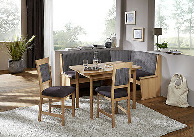 New IMOLA Eckbank Kitchen Dining Corner Seating Bench Table + 2 Chairs