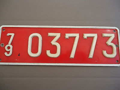 1979 Transit License Plate from Belgium (front one)