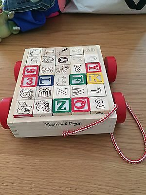 Melissa And Doug Abc/number Blocks And Cart
