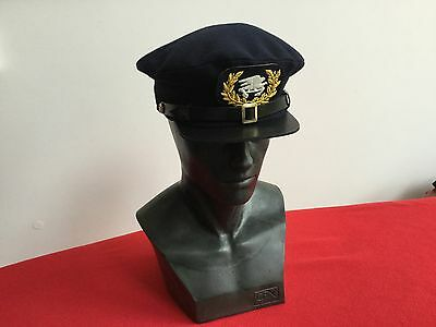 19th Century Naval Officers peaked cap. Authentic Reproduction.