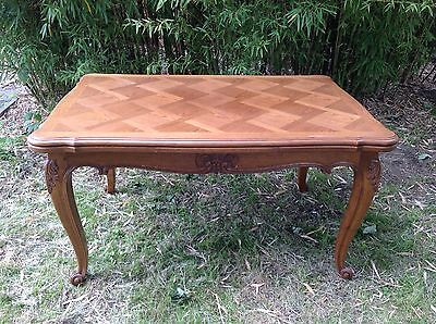 French Vintage Antique Louis Xv Style Extending Oak Dining Table