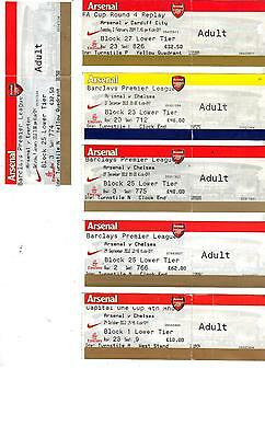 TICKET - ARSENAL v CHELSEA  - CAPITAL ONE CUP - 29 OCTOBER 2013