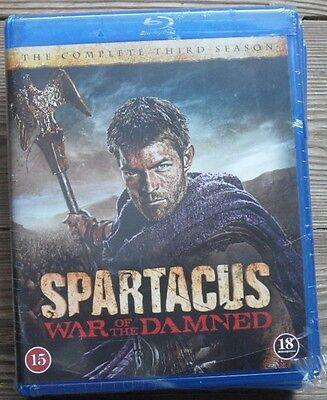 Spartacus War Of The Damned - Season 3 - Blu-Ray . English Audio