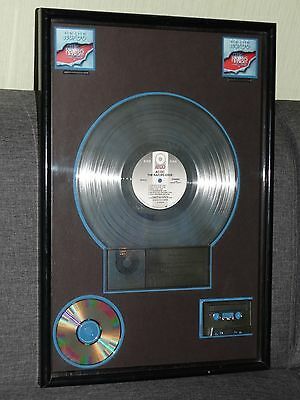 Double Platinum AC/DC Record Award Presentation disc The Razor's Edge Riaa Sales